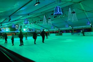 Skating on ice at Winterland, Amsterdam